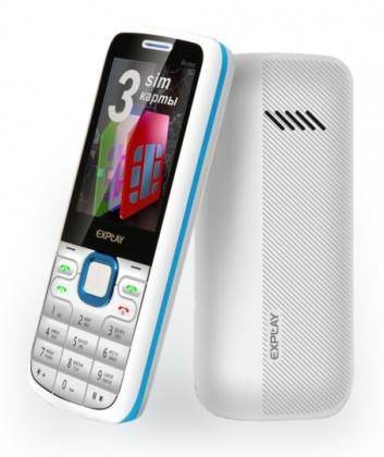 Explay PRIMO White Blue (3 sim). Декалайн - продажа сотовых ... 0836f98fe48